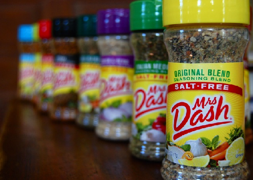 Especias Mrs Dash. Productos Healthy.