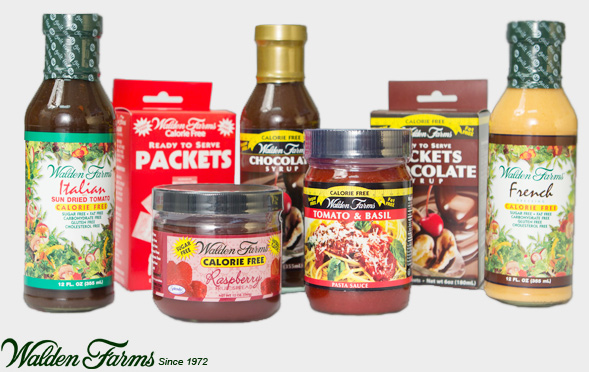 Salsas Walden Farms. Productos Healty.