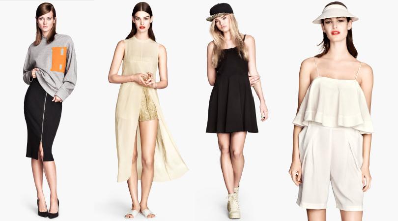 colección moda romántica y deportiva H&M 2014