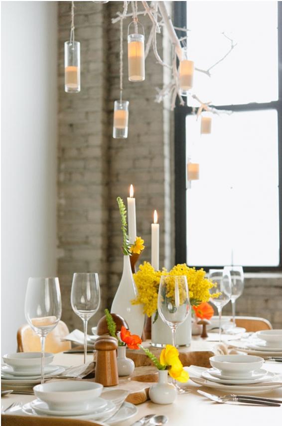 Bodas de estilo escandinavo actuales decoración mesa color