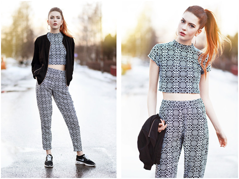Crop Top Nordic Blogger