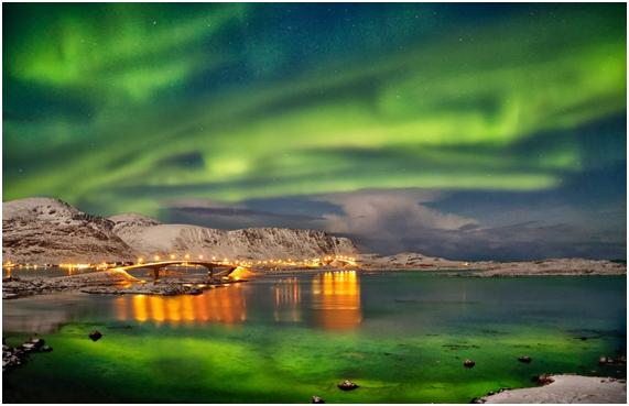 Islas Lofoten en Noruega Aurora Boreal