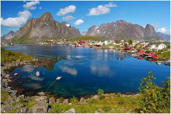 Islas Lofoten en Noruega Reine