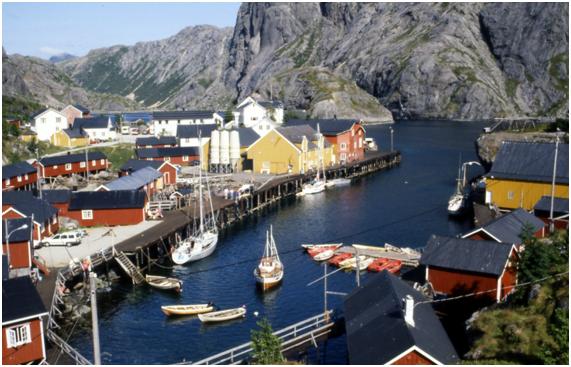 Islas Lofoten en Noruega Nusfjord