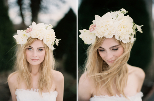 Peinados para Verano Ondas con Corona de Flores