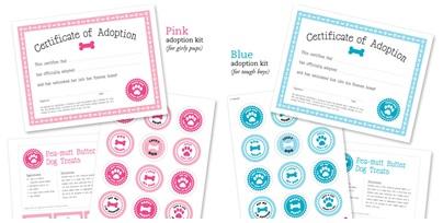 Perros Freebie Certificado de Adopción