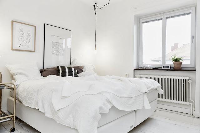 Apartamento sueco. Dormitorio principal.