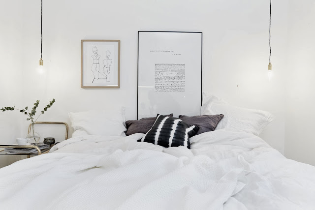 Apartamento sueco de decoración nórdica.