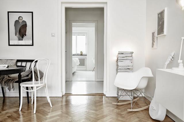 Apartamento sueco en blanco