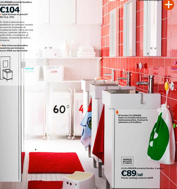 Catálogo Ikea 2015 para España baño rojo
