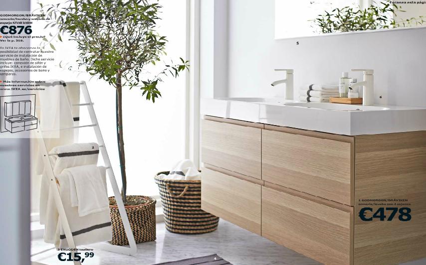 Catálogo Ikea 2015 para España baños naturales