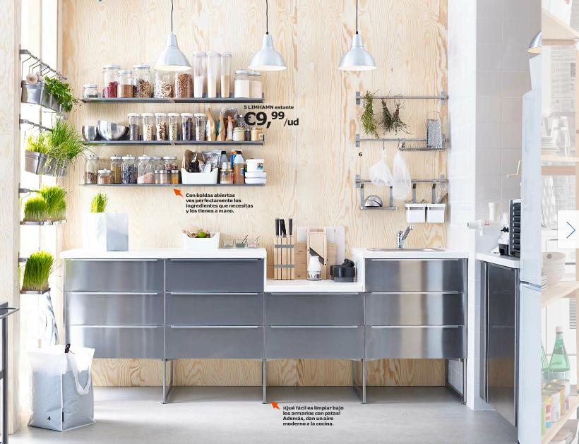 Catálogo Ikea 2015 para España cocina madera