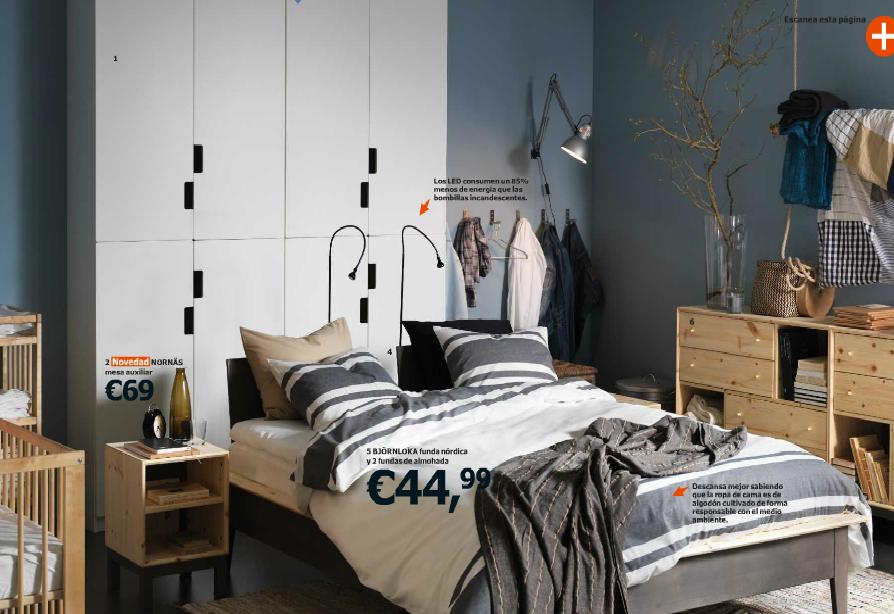 Catálogo Ikea 2015 dormitorio madera