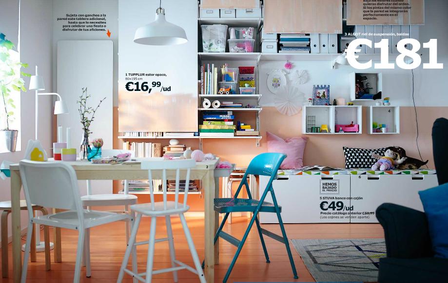 Catálogo Ikea 2015 para España salón color