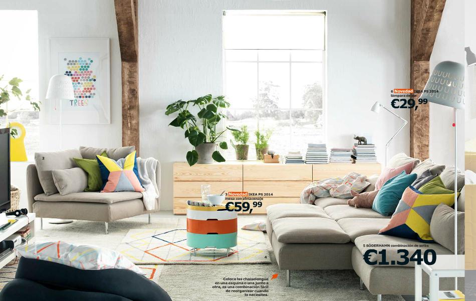 Catálogo Ikea 2015 para españa salón madera