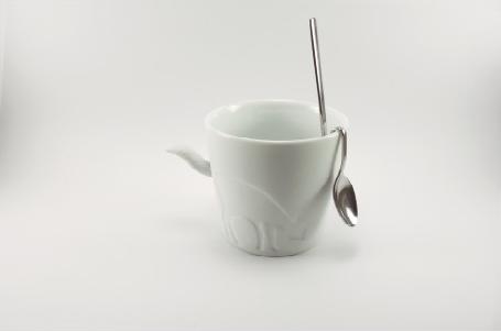 Cuchara y taza de Diseño nórdico