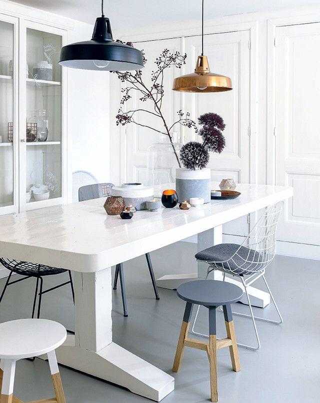 Gris y Madera Natural en mobiliario nórdico
