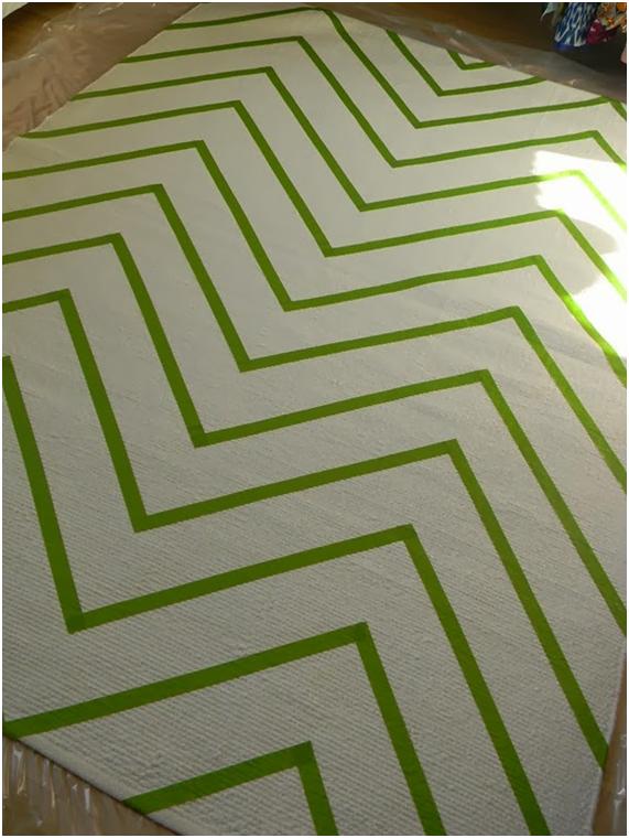 Chevron diy alfombra