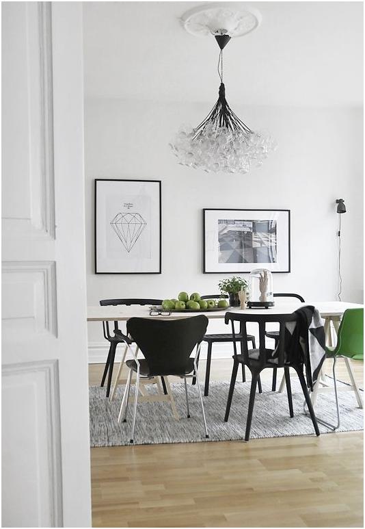 Iluminación comedor nórdico lámpara diseño