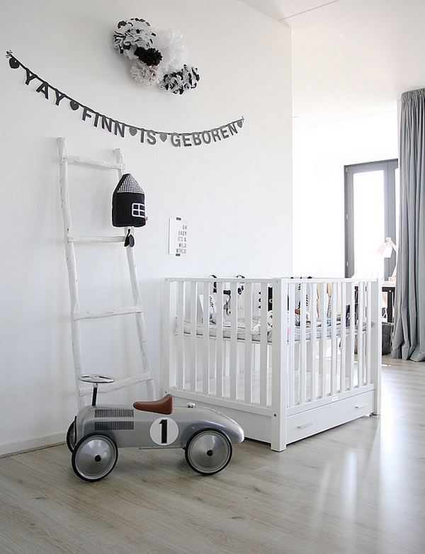 Gris y Madera Natural en habitaciones infantiles