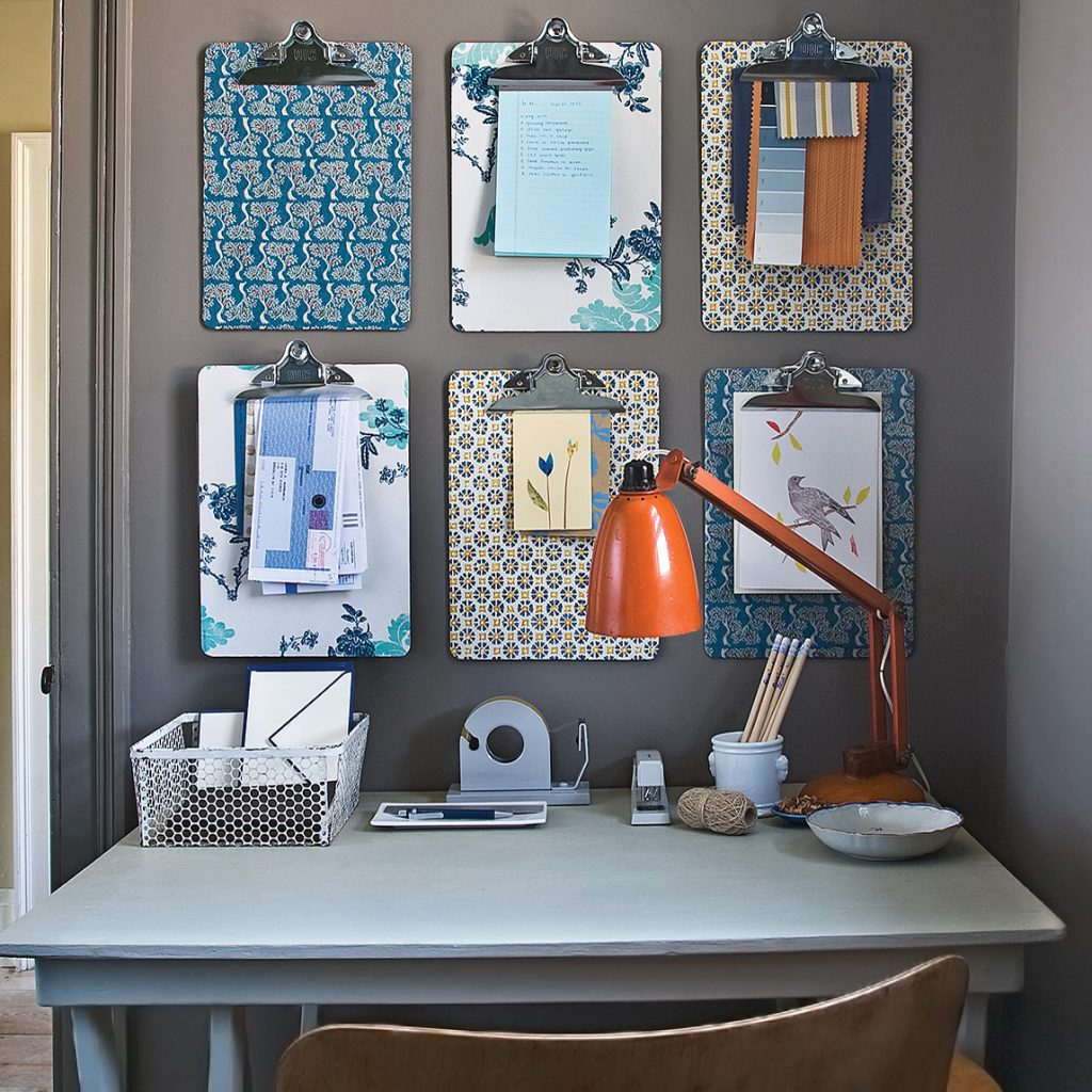 Inspiration Board con clipboards decorados
