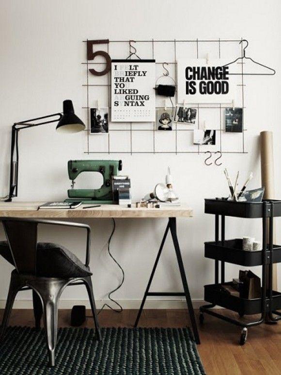 Inspiration Board con rejilla metálica