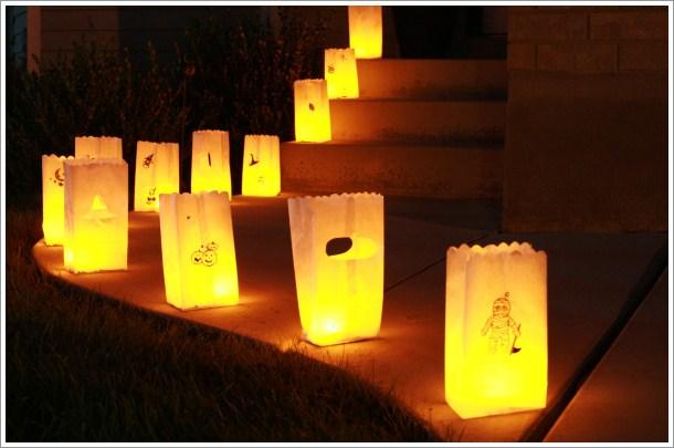 Iluminación farolillos Halloween