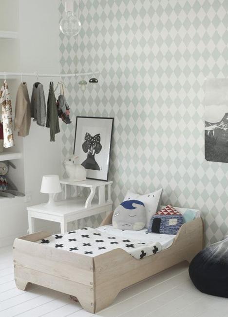 Habitaciones infantiles con estampado geométrico