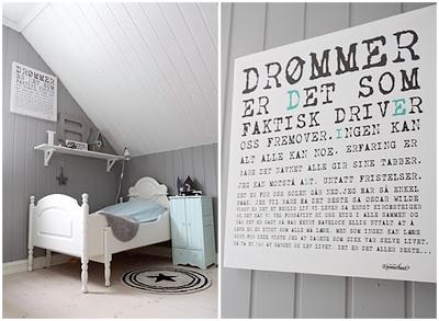 Habitaciones infantiles de estilo nórdico en blanco y gris