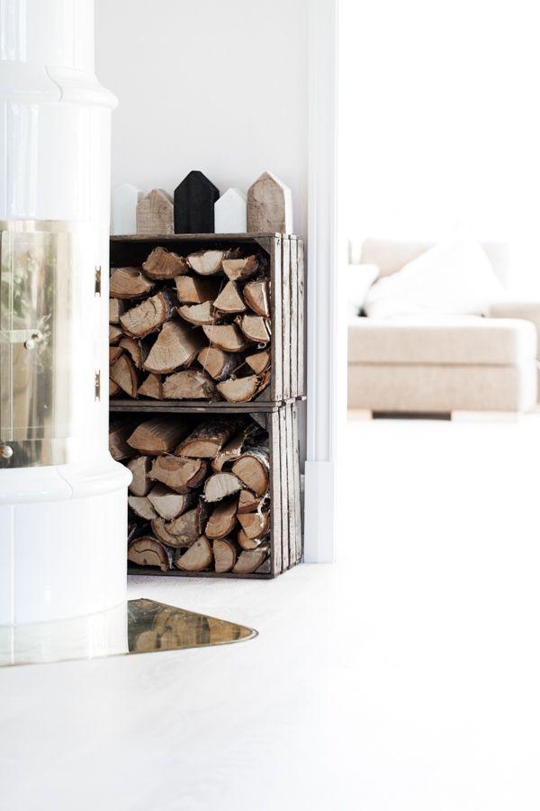 Cajas de fruta de madera de estilo nórdico