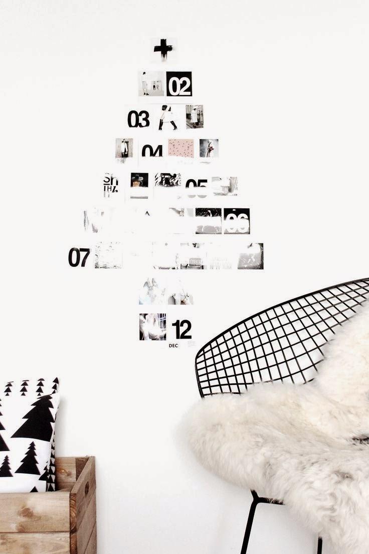 Árbol de Navidad con fotografías