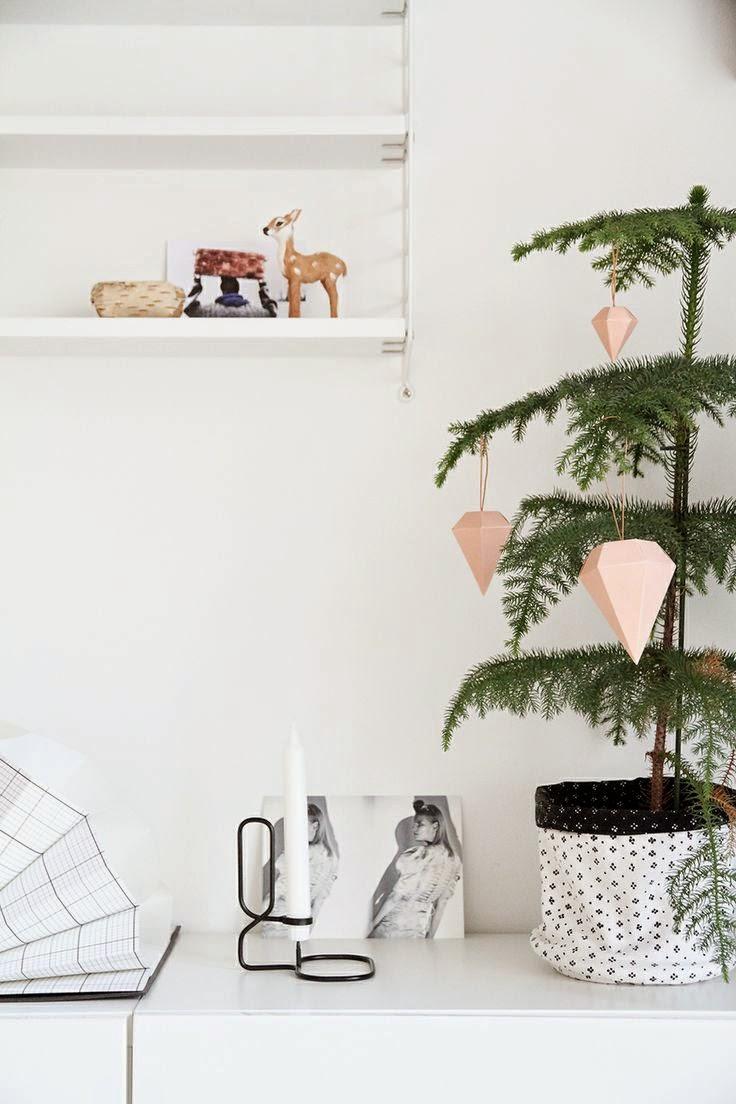 Decoración de Navidad de estilo geométrico
