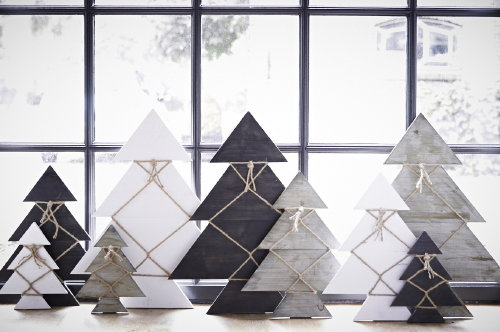 Decoración de Navidad conjunto de árboles