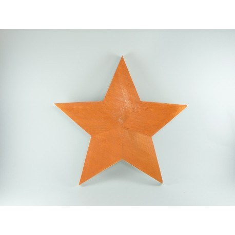 Estrella de Madera de Navidad de Color Cobre para Calendario de Adviento