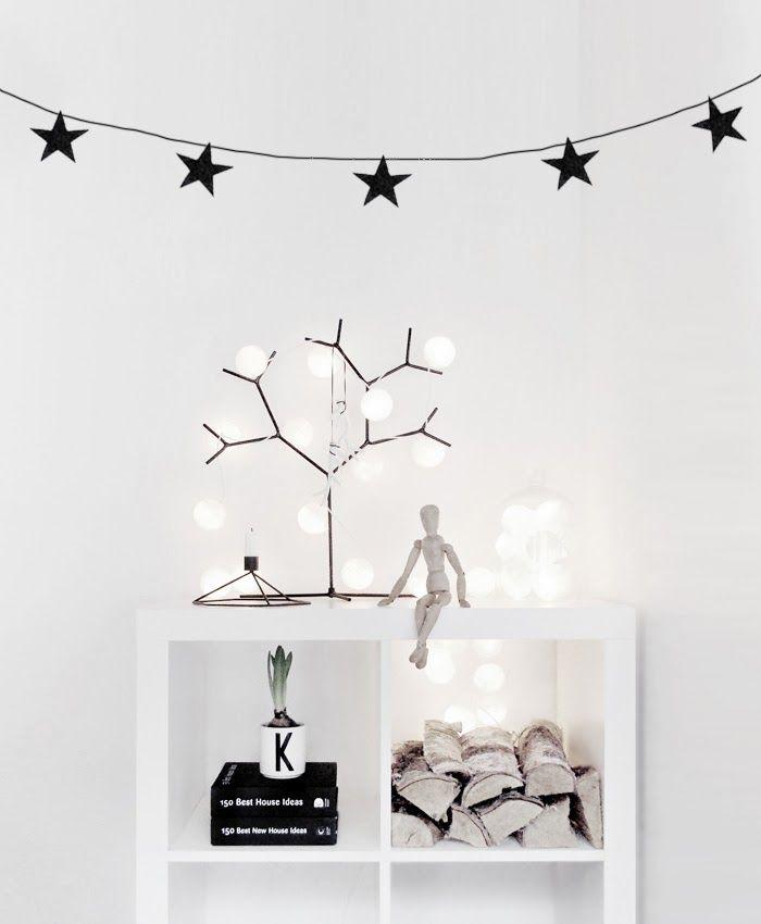 Guirnaldas de Navidad de formas sencillas