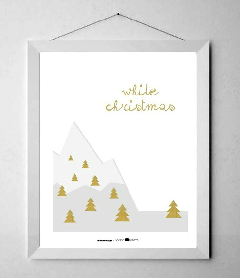Láminas de Navidad de estilo nórdico