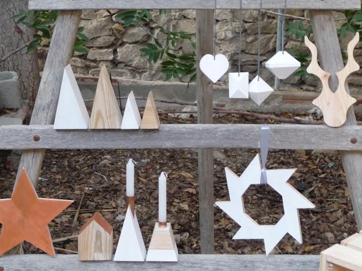 Nordic Christmas: Adornos navideños de estilo nórdico realizados en madera