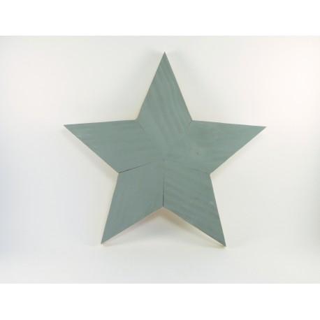 Estrella de madera de color gris