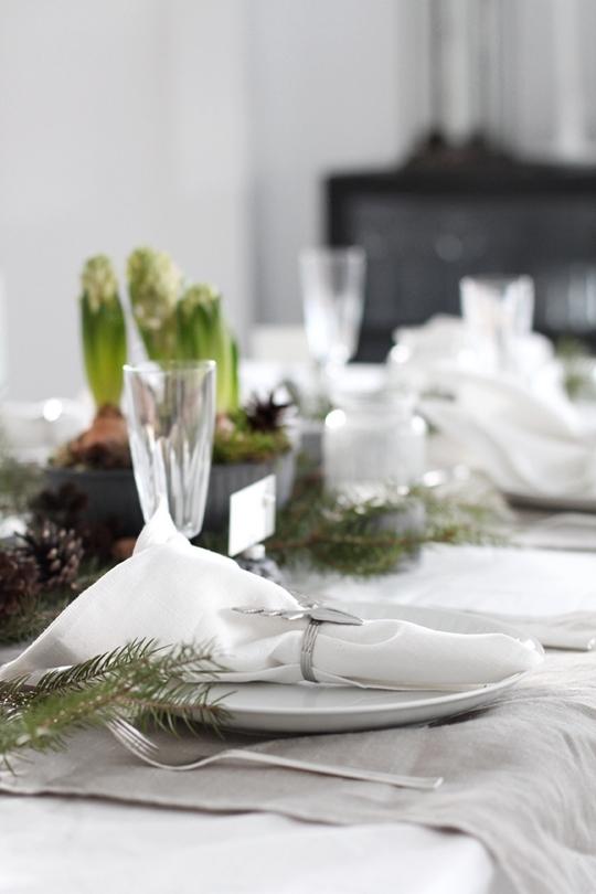 Decoración de la mesa en nochebuena servilleteros reno