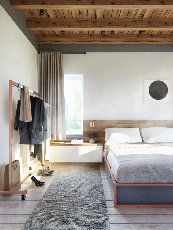Estilo Escandinavo Industrial en dormitorio