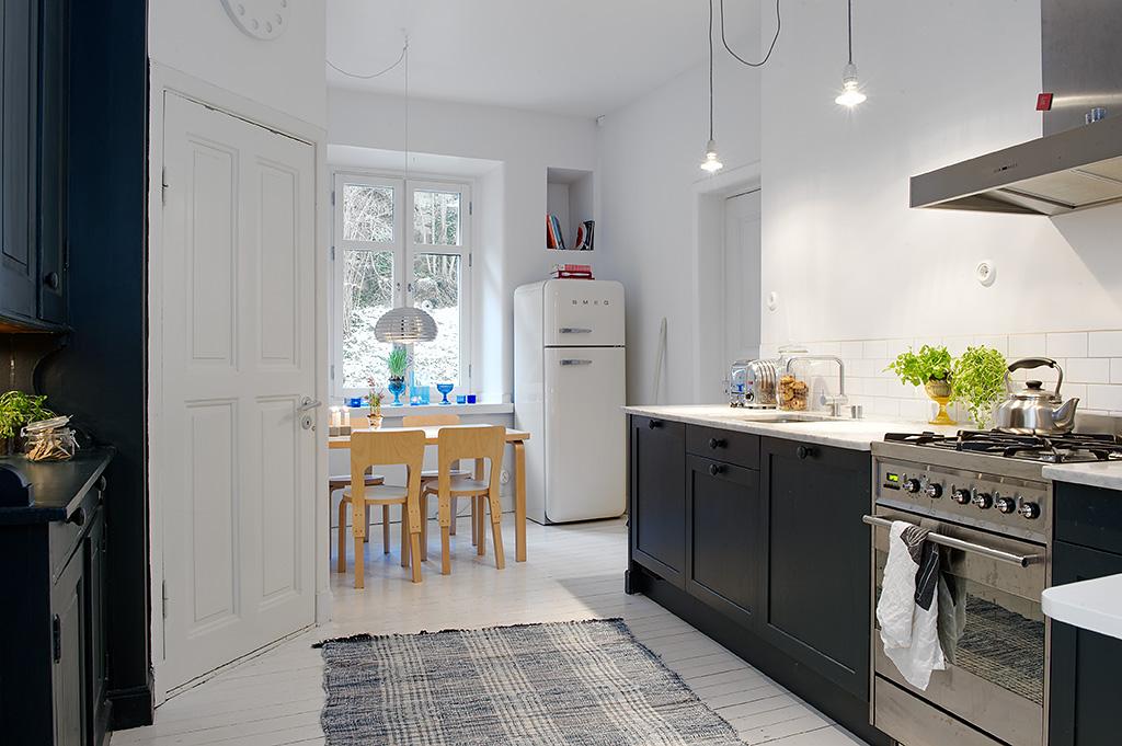 Vivienda en el centro de Estocolmo cocina 2012