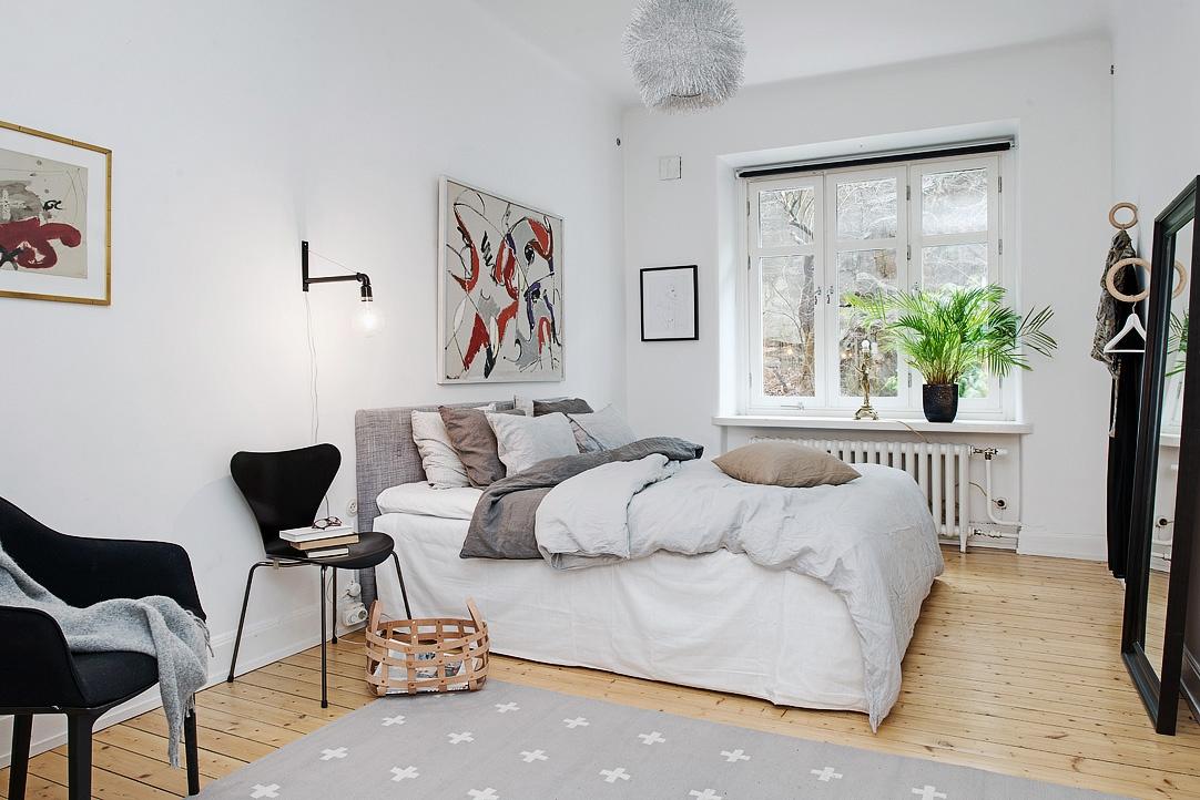 Vivienda en el centro de Estocolmo dormitorio 2014