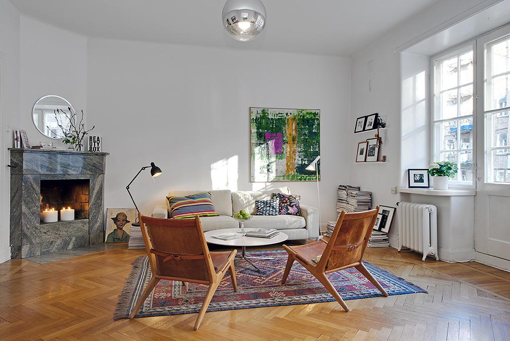 Vivienda en el centro de Estocolmo salón 2012