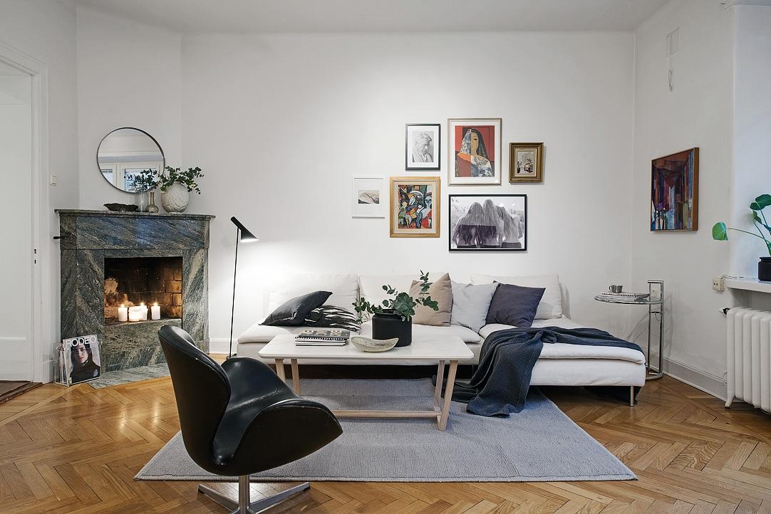 Vivienda en el centro de Estocolmo salón 2014