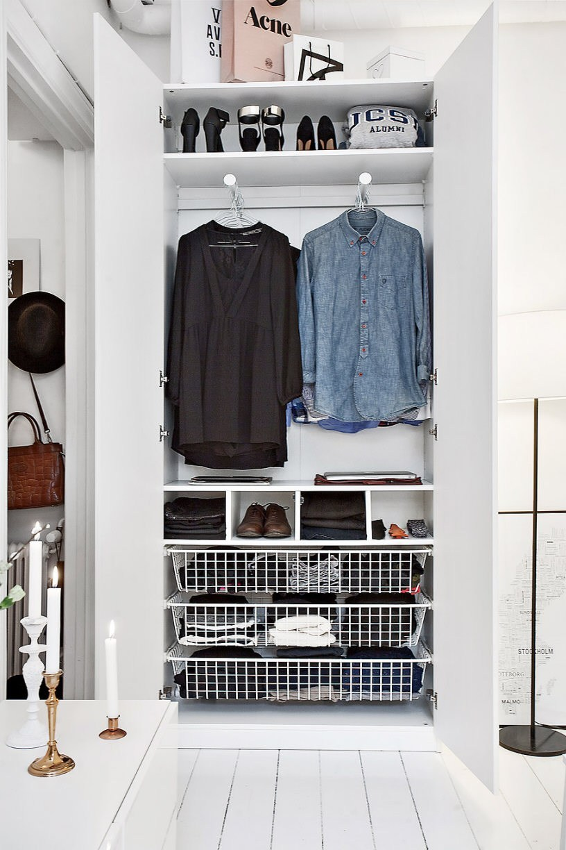 Decorar espacios pequeños.  Interior de armario.