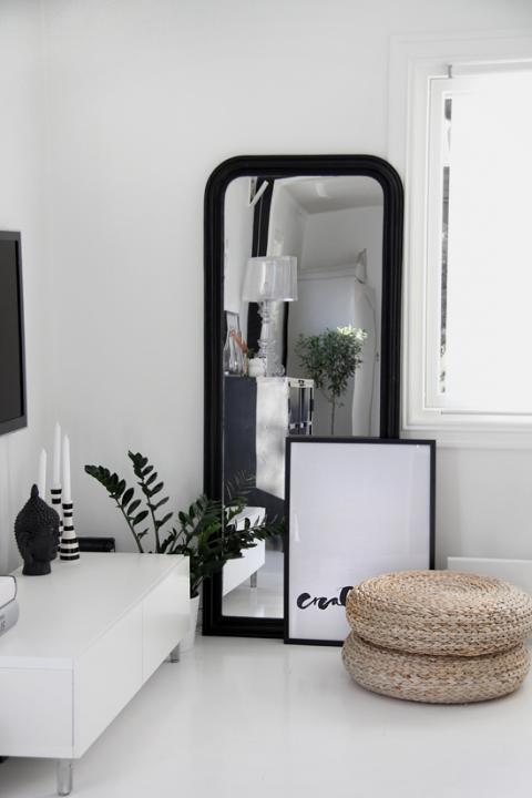Espejo de pared marco negro