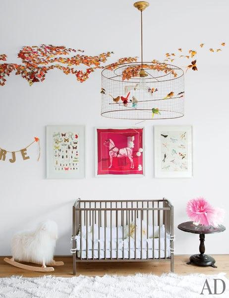 Lámpara Jaula en dormitorio de bebé