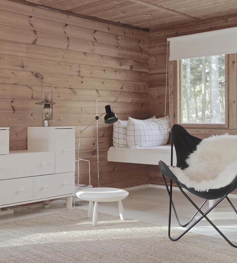 una casa cómoda en Finlandia