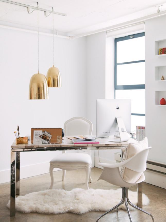Blanco y Dorado Workspace