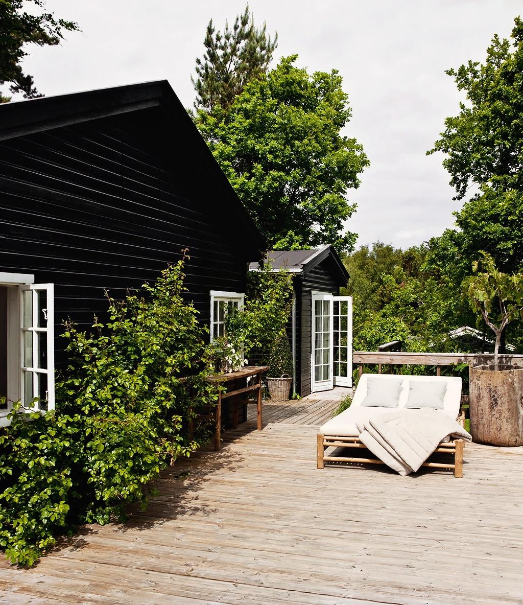 Casa de Verano Escandinava Cama Exterior